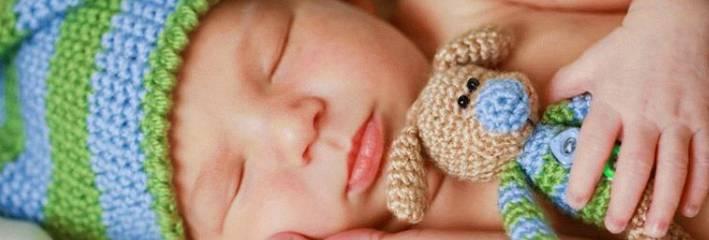 Спящий ребенок в 3 месяца