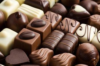 Различные шоколадные конфеты