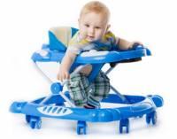 Ребенок в синих ходунках