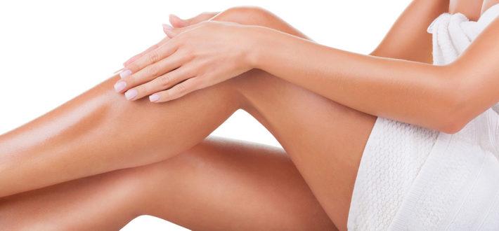 у женщины красивые ноги