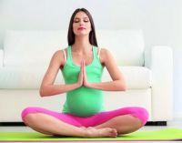 беременная в позе лотоса