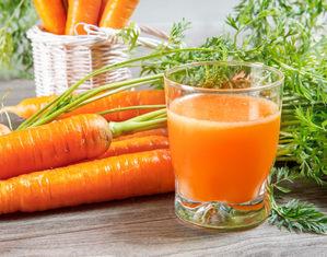 Морковь и сок