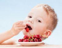 Ребенок ест ягоды