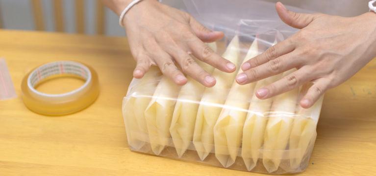 грудное молоко в пакетах для заморозки