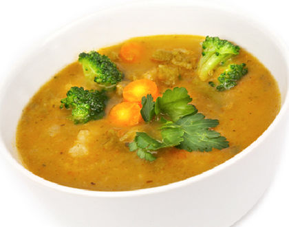 суп из овощей с брокколи