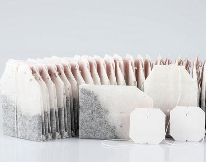 чай в пакетиках с ярлычками