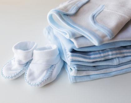одежда для малыша голубая с пинетками