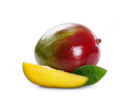 манго с листочком и одной долькой