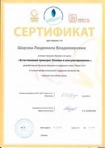 Сертификат центра обучения и поддержки семьи