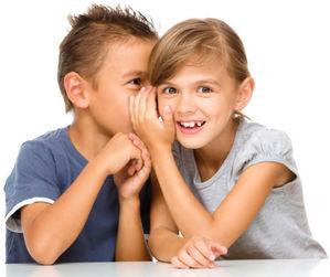 дети секретничают