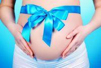 беременная с голубой полоской