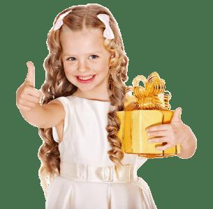 девочка с подарком